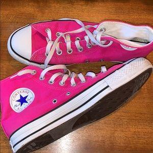 Hot Pink Converse All Star High Tops